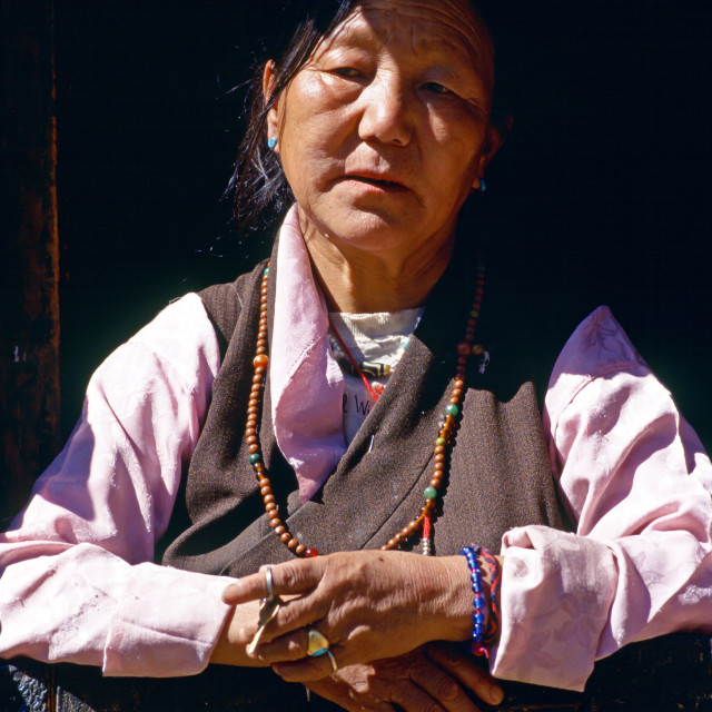 """Woman in Bhutan"" stock image"