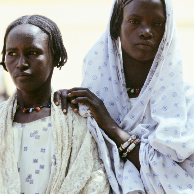 """Women, Burkina Faso formerly Upper Volta, Africa"" stock image"