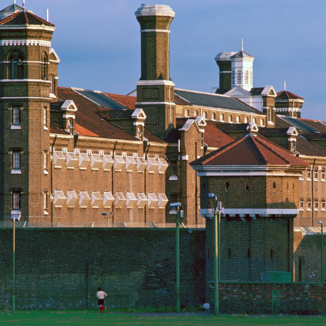 """Wormwood Scrubs Prison, London."" stock image"