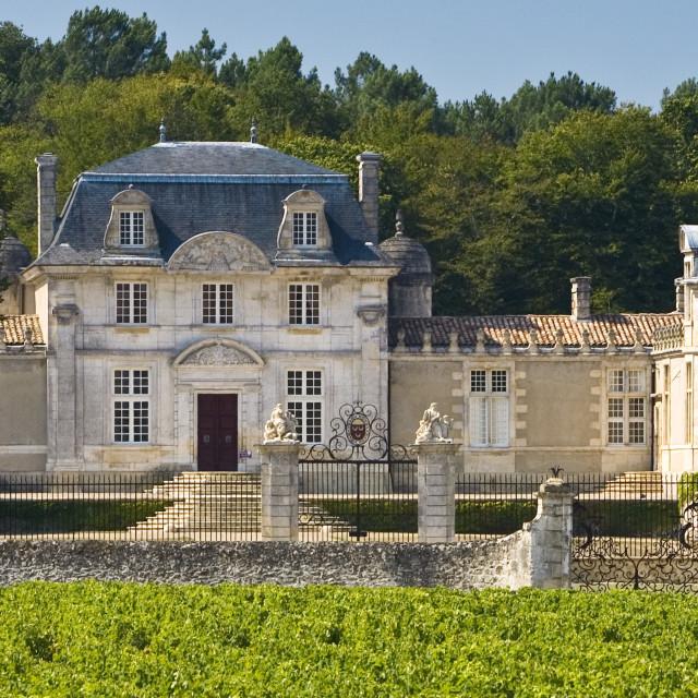 """Chateau de Malle,Preignac, inSauternes regionof France."" stock image"