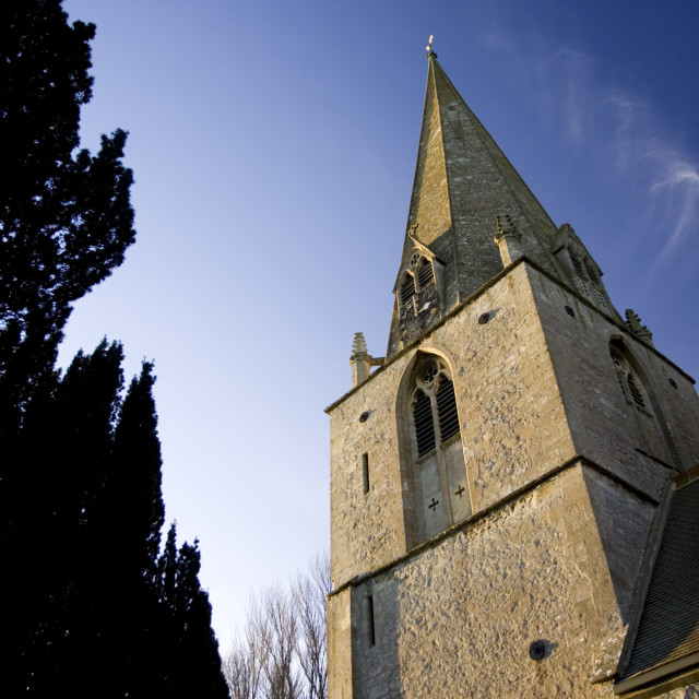 """""""St Peter and St Paul Church, Broadwell, The Cotswolds, Oxfordshire, United..."""" stock image"""
