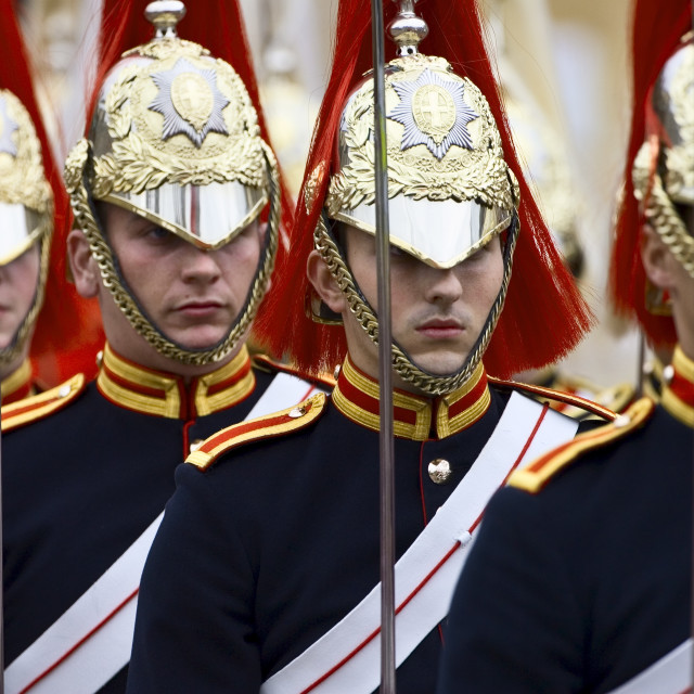 """Blues and Royals Regiment of the Household Cavalry, England, UK"" stock image"