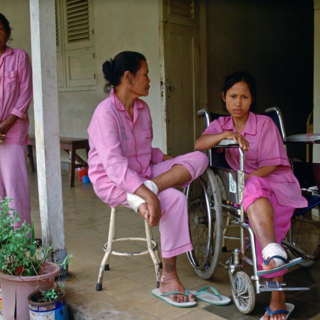 """Leprosy patients at the Sitanala Hospital, Jakarta, Indonesia"" stock image"