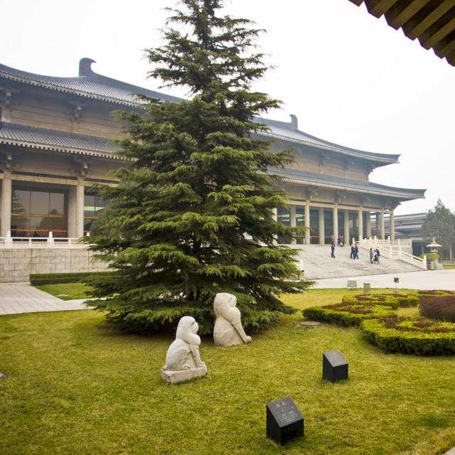 """The Shaanxi History Museum, Xian, China"" stock image"
