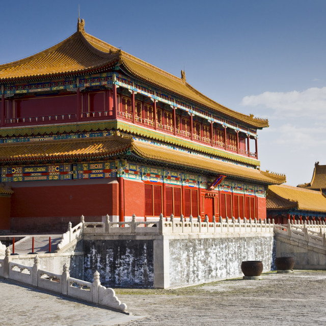 """Emperor's Warehouse in the Forbidden City, Beijing, China"" stock image"
