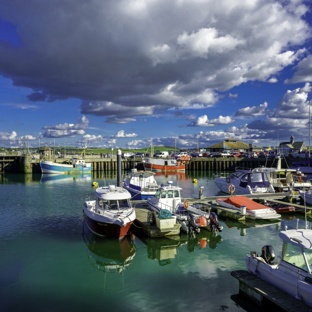 """""""Padstow Harbour Version 2"""" stock image"""