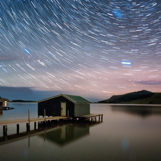 """""""Star Trails"""" stock image"""