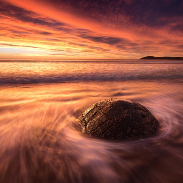 """Moeraki Boulders Sunrise"" stock image"