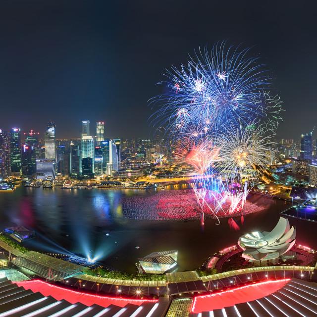 """Singapore Fireworks"" stock image"