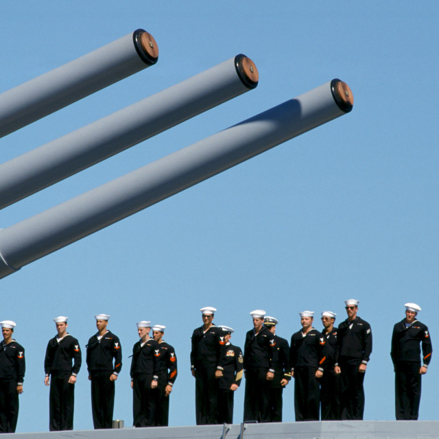 """""""Australian warship and crew take part in Naval Review and maritime parade in..."""" stock image"""