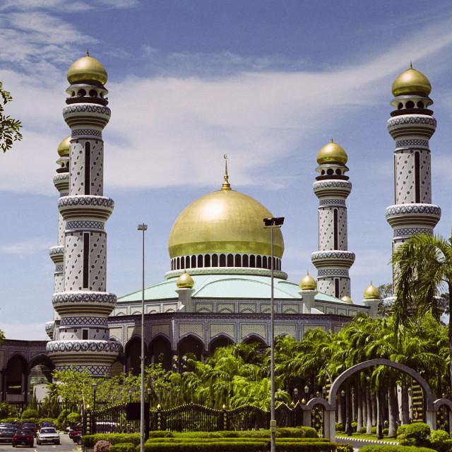 """Jame'Asr Hassanal Bolkiah Mosque at Kampong Kiarong in Brunei Darussalam"" stock image"