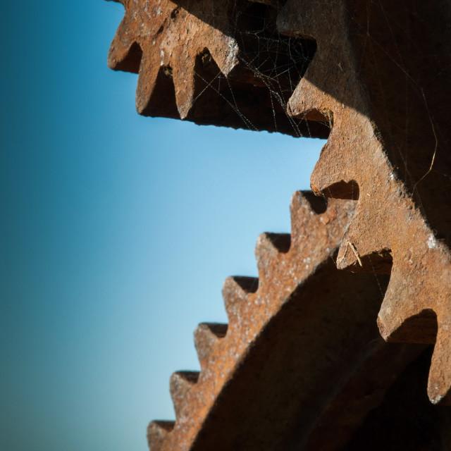 """Rusty Gears"" stock image"