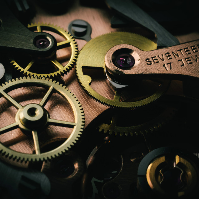 """Mechanical Watch Mechanism"" stock image"