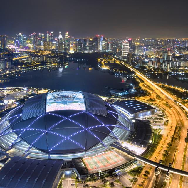 """Singapore Sports Hub"" stock image"