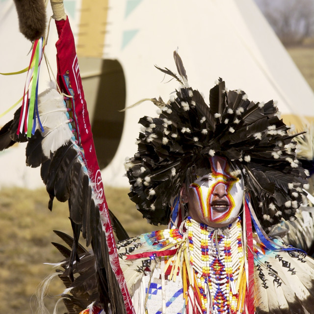 """Tribes of plains indians - Sioux, Dakota, Cree and Dene First Nation People,..."" stock image"