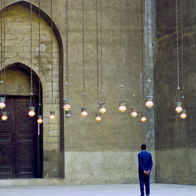 """""""Mosque of Sultan Hassan in Cairo, Egypt"""" stock image"""
