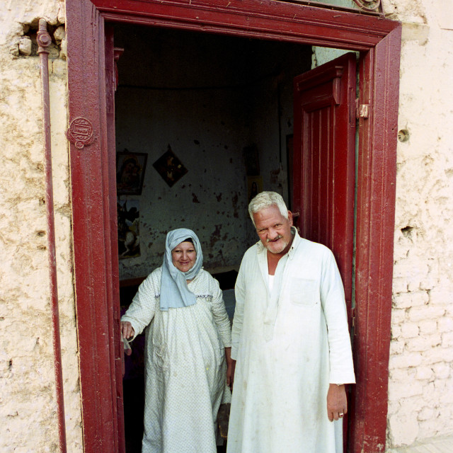 """""""Egyptian people at their home in Luxor, Egypt"""" stock image"""