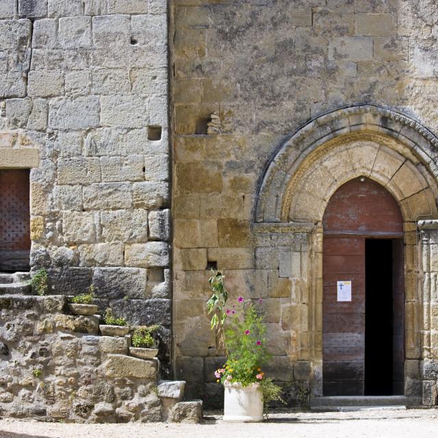"""""""Chateau de la Marthonie, XV, XVI, XVII Century architecture, in St Jean de..."""" stock image"""