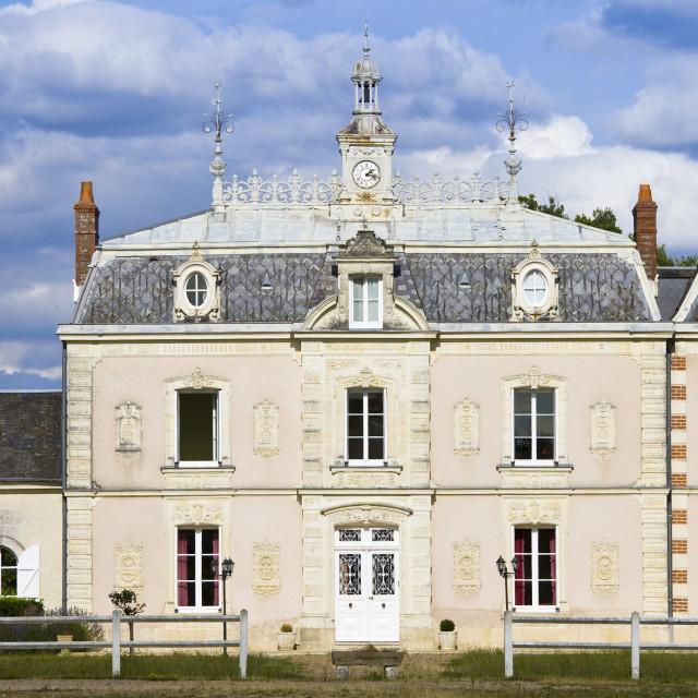 """""""Chateau de la Grille near Azay le Rideau, Loire Valley, France"""" stock image"""
