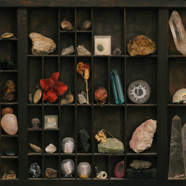 """Curiosity Cabinet full of Treasures"" stock image"