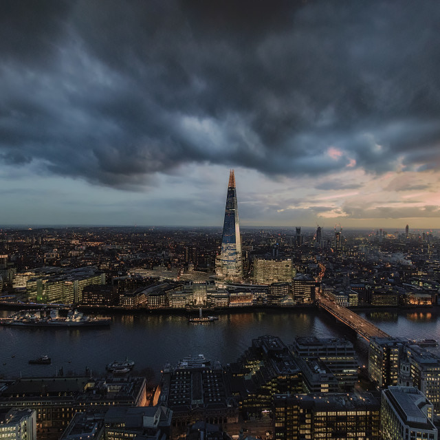 """The Shard & River Thames - Twilight"" stock image"