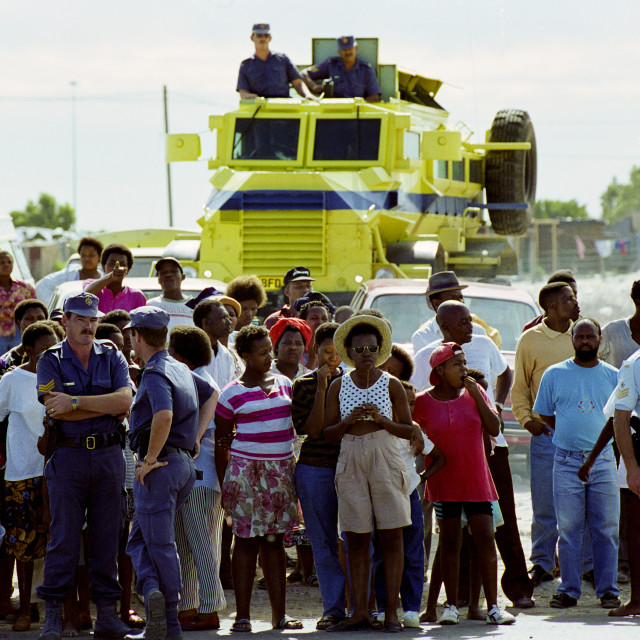 """""""Locals in the Alexandra Township, Johannesburg, South Africa"""" stock image"""