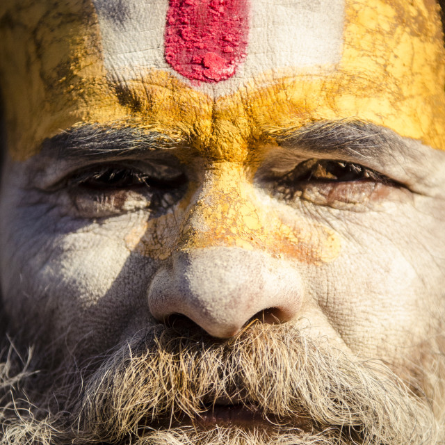 """A local sadhu, or baba, at the Shiva Shrines, Pashupatinath, Nepal, Asia"" stock image"