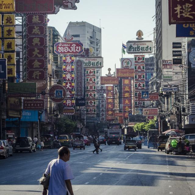 """Yaowarat Road, Chinatown, Bangkok, Thailand, Southeast Asia, Asia"" stock image"