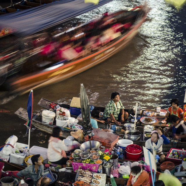 """""""Amphawa weekend market, Amphawa, Thailand, Southeast Asia, Asia"""" stock image"""