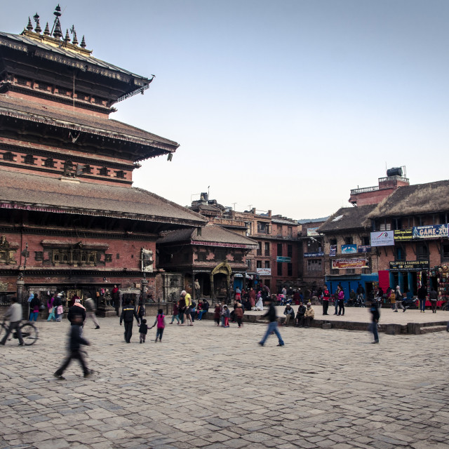 """Bhairabnath Temple and Taumadhi Tole, Bhaktapur, UNESCO World Heritage Site,..."" stock image"