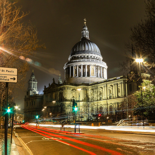 """St Pauls Cathedral - London UK"" stock image"