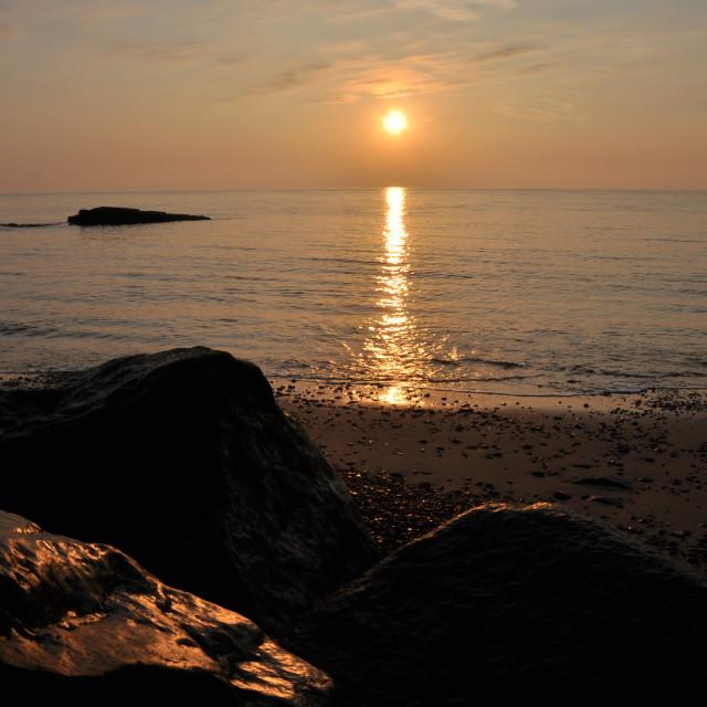 """Suffolk sunrise"" stock image"