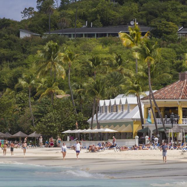 """Dickenson Beach, St. Johns, Antigua, Leeward Islands, West Indies, Caribbean,..."" stock image"