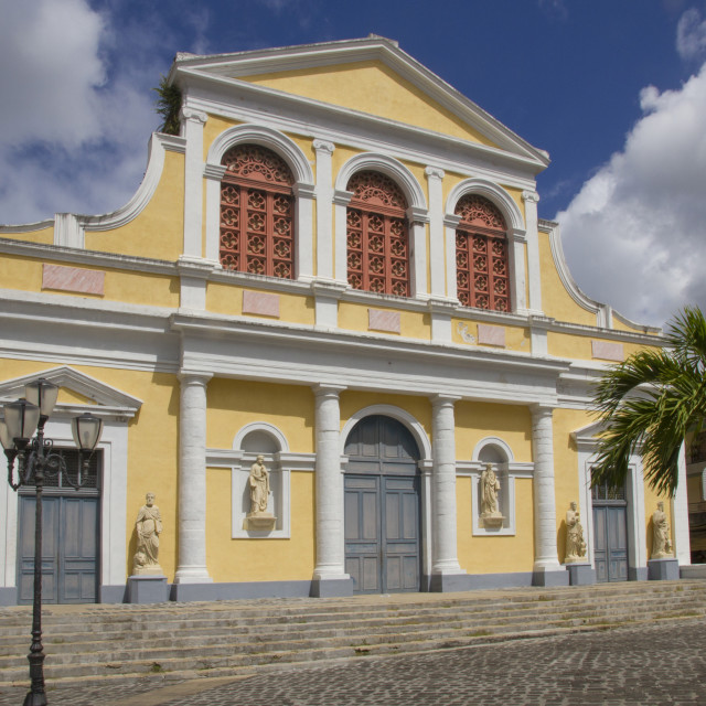 """""""Cathedral, Point-a-Pitre, Guadeloupe, Leeward Islands, West Indies,..."""" stock image"""