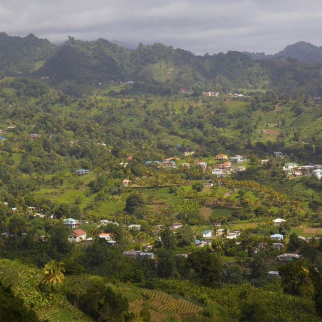 """""""Mesopotamia Valley, near Kingstown, St. Vincent, St. Vincent and the..."""" stock image"""