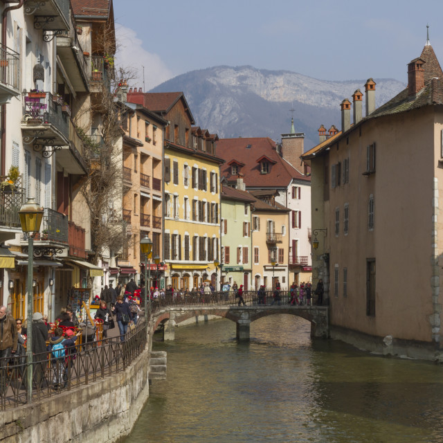 """""""Old town & River Thiou, Annecy, Haute Savoie, France"""" stock image"""
