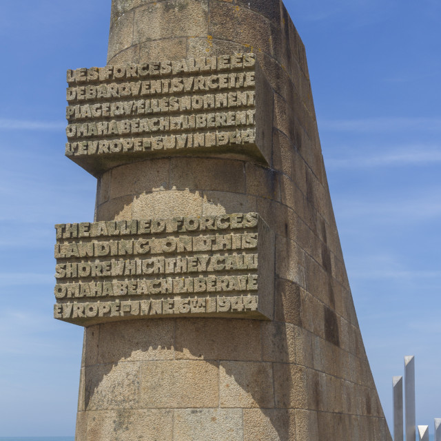 """""""D-Day, 6th June 1944 memorial, Omaha beach, Collevile, Normandy, France, Europe"""" stock image"""