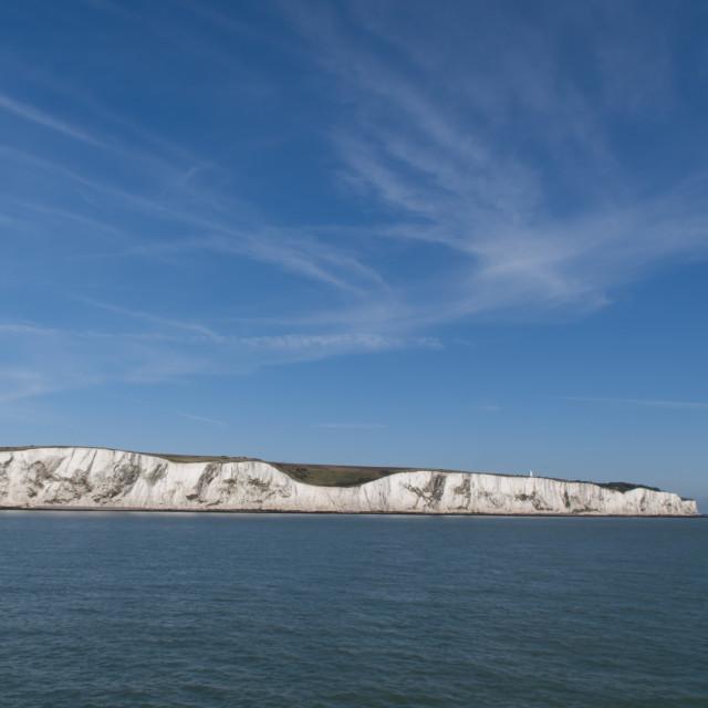 """Dover white cliffs"" stock image"