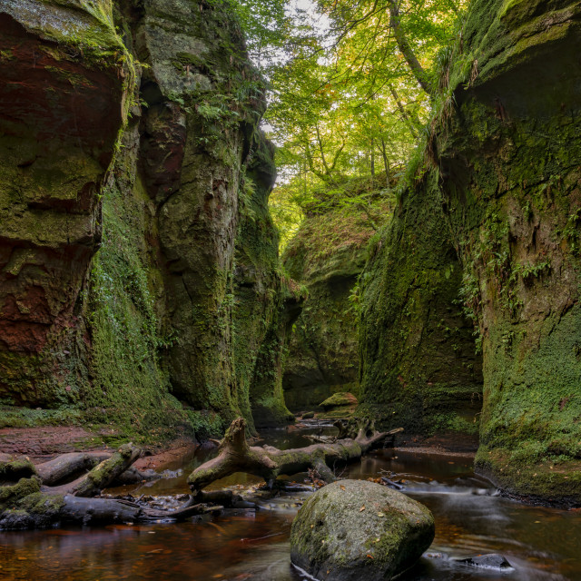"""The Devil Pulpit"" stock image"