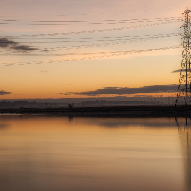 """""""Sunset over the River Forth"""" stock image"""