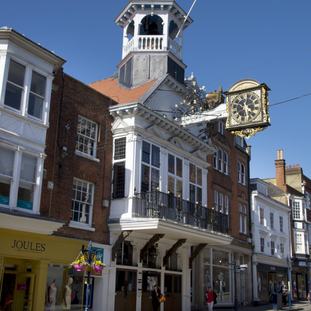 """The Guildhall stands in the High Street of Guildford."" stock image"