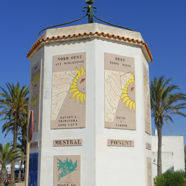 """Trade winds monument, Formentera, Balearic Islands, Spain, Mediterranean, Europe"" stock image"