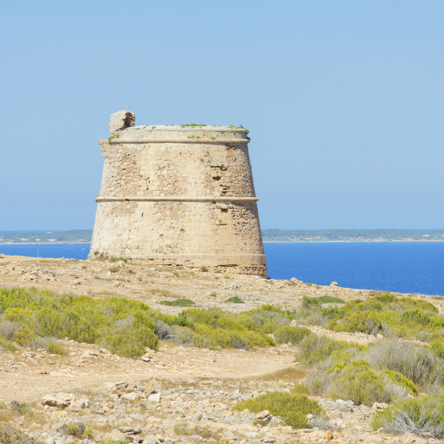 """Punta Prima, Formentera, Balearic Islands, Spain, Mediterranean, Europe"" stock image"