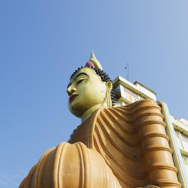 """Buddhist temple at Bentota, Southern Province, Sri Lanka, Asia"" stock image"