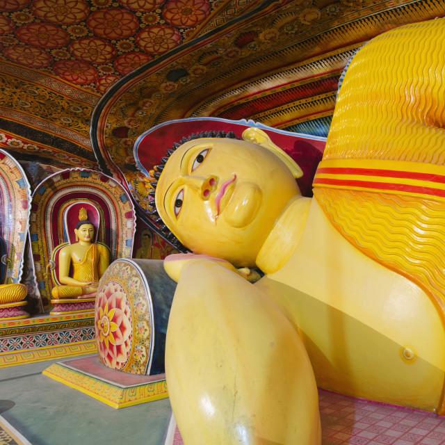 """""""Buddha statues, Southern Province, Sri Lanka, Asia"""" stock image"""