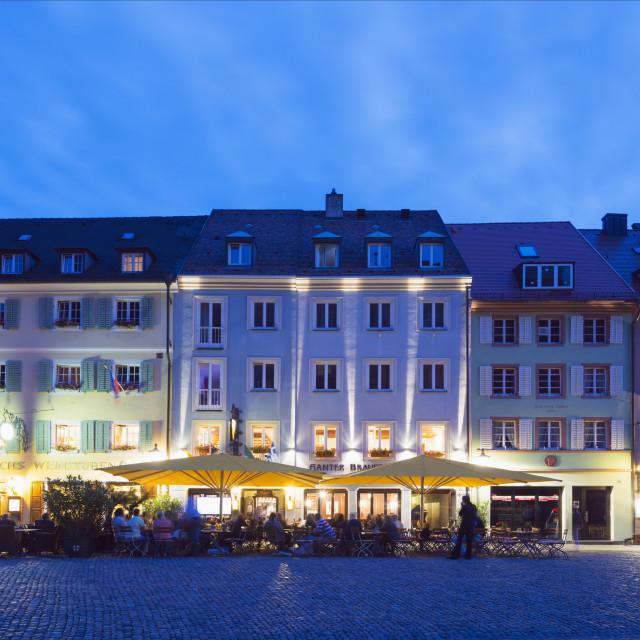 """Restaurant in Freiburg, Baden-Wurttemberg, Germany, Europe"" stock image"