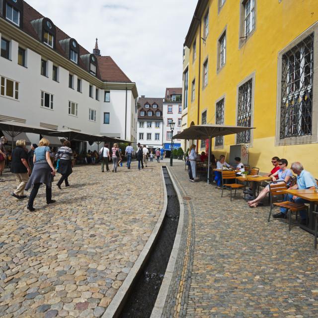"""""""Mediaevel sewage system, Freiburg, Baden-Wurttemberg, Germany, Europe"""" stock image"""