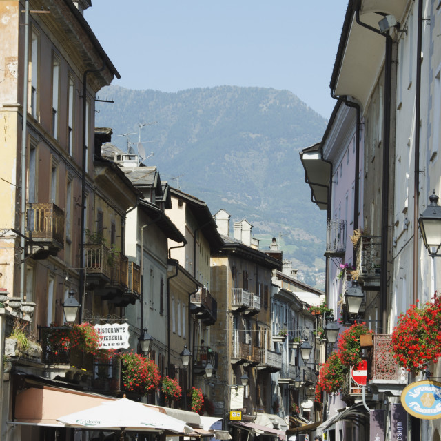 """Aosta, Aosta Valley, Italy, Europe"" stock image"