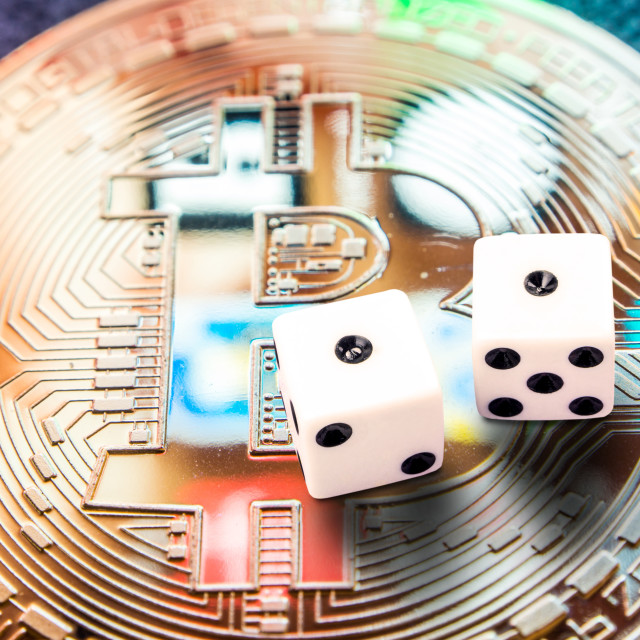 """crypto currencies especially bitcoin investment risk"" stock image"