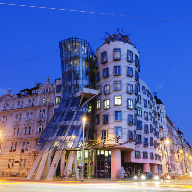 """""""Fred and Ginger Dance School, Dancing House, designed by Frank O Geary,..."""" stock image"""
